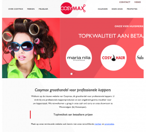 Website in WordPress voor Cosymax